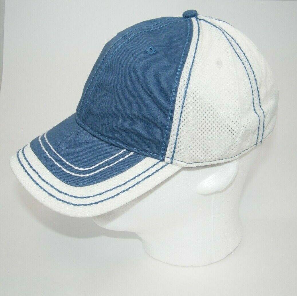 (14) FAHRENHEIT WASHED COTTON SOFT NYLON MESH 786 CAPS / HATS BLUE & CREAM