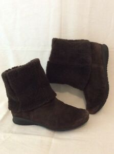 Mephisto-Brown-Ankle-Suede-Boots-Size-5-5