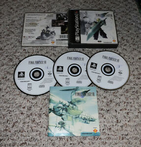 """READ! Final Fantasy VII 7 (PlayStation 1 PS1) Black Label Misprint Floating """"i"""""""