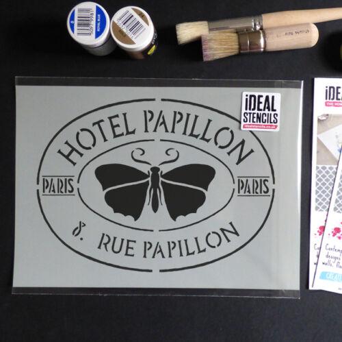 Pochoir Français Vintage Hotel Papillon Shabby Chic Décor Meubles Pochoirs