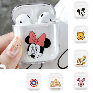Minnie Mickey Marvel Clear Hard Pc Cover For Apple Airpods Charging Case Disney Ebay