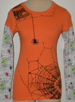 Ladies Jerry Leigh Apparel Spider Web Long Sleeve Two-tone Top Juniors Medium