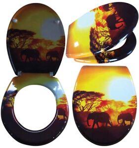Lunette Wc avec Douce Modèle Sun Siège de Toilette Lunette de Wc ...