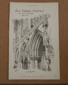 Antique-architects-print-Lichfield-cathedral-chior-stall-The-builder-1891