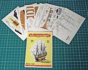 1950s-Vintage-Original-Micromodels-S5-HMS-Victory-Nelson-039-s-Flagship-at-Trafalgar