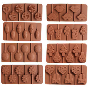 1Pcs-Silicone-Lollipop-Tray-Mould-Candy-Chocolate-Sugarcraft-Decorating-Mold