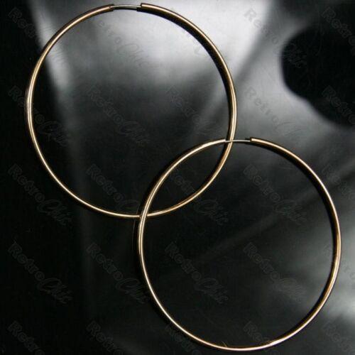 Aros Grande 7cm Plata//Rosa//Amarillo Oro Plateado Aro Pendientes Moda De Metal 70mm