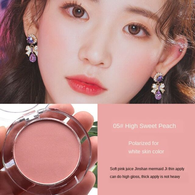 Single Color Long Lasting Blush Powder Matte Face Makeup Contour Cosmetics