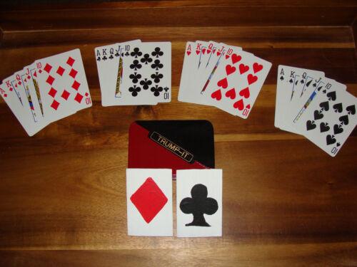 TRUMP-IT playing card suit identifier with bonus case