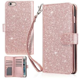 Iphone 6 Plus Case Iphone 6s Plus Wallet Case Urbandrama Glitter Shiny Pu Fau Ebay