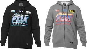 Fleece Sweatshirt Hoody Men MX Motocross Dirt Fox Racing Tracer Zip Up Hoodie