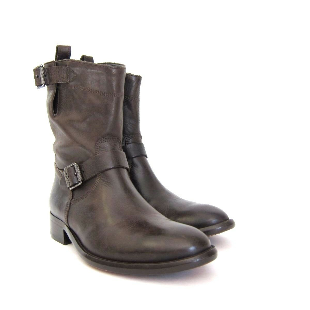 S-954120 New Belstaff Bedford Matte Brown Short Boot Shoes Size  -8/Marked-38