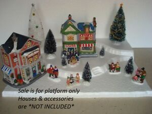 Christmas Village Display.Details About Christmas Village Display Base Platform Ch11 For Lemax Dept56 Dickens More