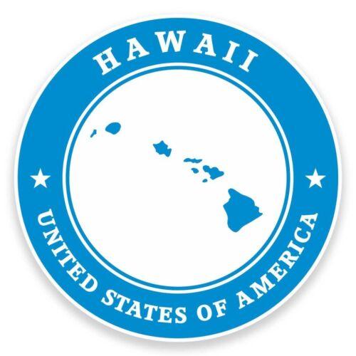 UU 2 X Pegatina de vinilo de Hawaii EE coche viaje equipaje #9344