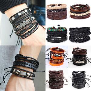6pc-Mens-Punk-Leather-Wrap-Braided-Wristband-Cuff-Bracelet-Bangle-Boyfriend-Gift