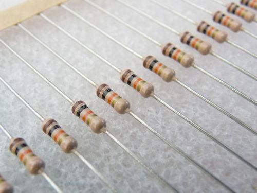 100 résistances couche carbone 6K2 1//4W 5/% Philips CR25