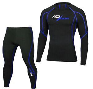 Shirt Long Sleeves Skin Tights Base Layer Pants Top Set Mens Compression Pants