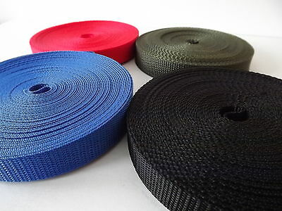 Polypropylene Webbing Strap//Tape 20mm,30mm,40mm,50mm Choice of Colours