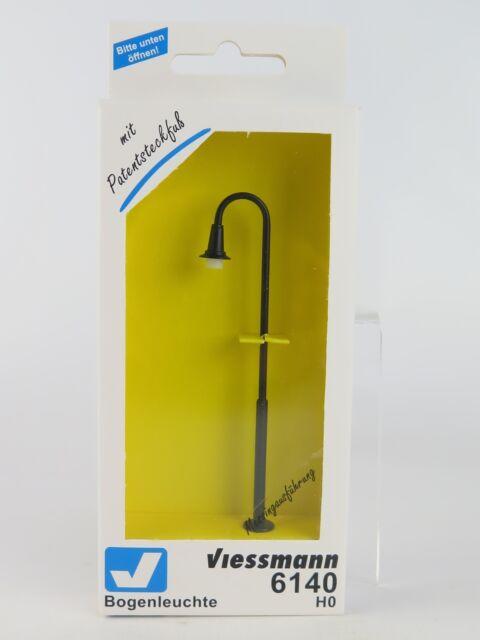 6140 VIESSMANN H0 LANTERNE CROSIER 66MM NOIR/H0 Swan cou ampoule,hauteur: 87 mm