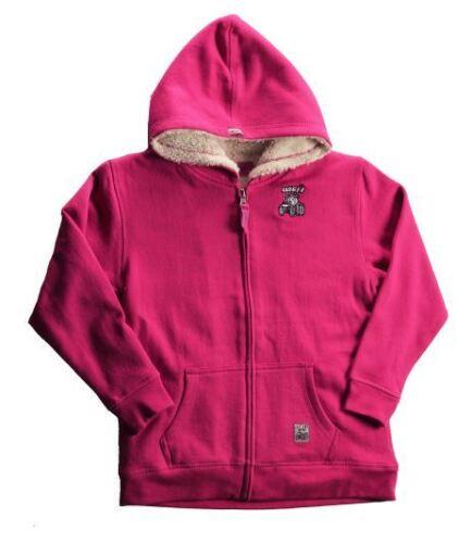 Case IH Zip Front Sherpa Lined Fleece w//Embroidery Magenta