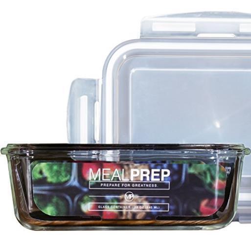 Premium Verre Repas Préparation Rangement Nourriture Récipient avec Fermeture