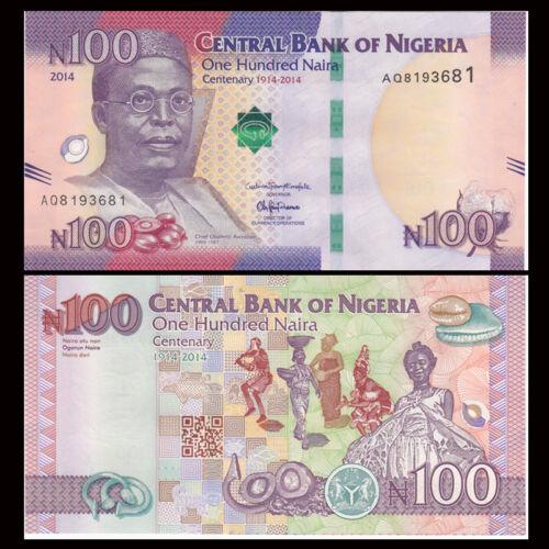 Nigeria 100 Naira Lot 5 PCS P-41 2014 Commemorative UNC