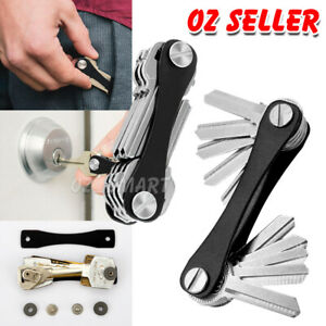10-Keys-KeySmart-Genie-Compact-Key-Holder-Organiser-Pocket-Size-Ring-Aluminium