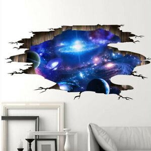 Image Is Loading Wall Stickers Cosmic Galaxy Wall Decals For Kids