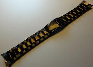 Timex T2M505 Perpetual Calendar SL Series 22mm Push Button RARE Black Watch Band