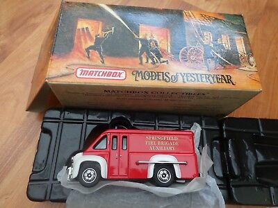 YFE16 MATCHBOX MODELS OF YESTERYEAR 1948 DODGE ROUTE SUPPORT VAN FIRE  ENGINE | eBay