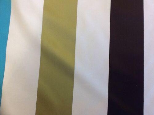 Ashley Wilde karok à rayures en tissu designer Aqua Rideau au mètre