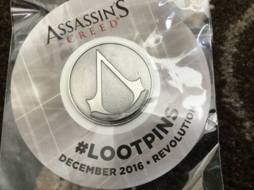 Assassins Creed Loot Crate exclusive Pin Revolution new