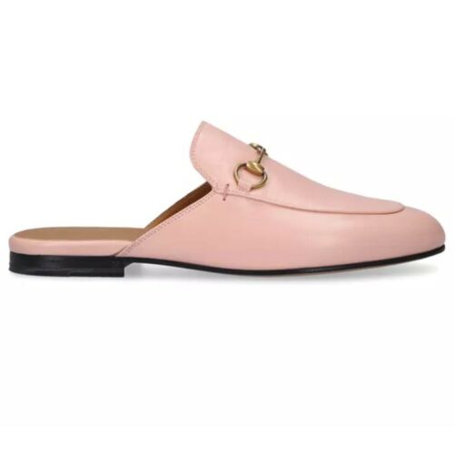 $850 Gucci Princetown Loafers Shoes Pale Pink Nude