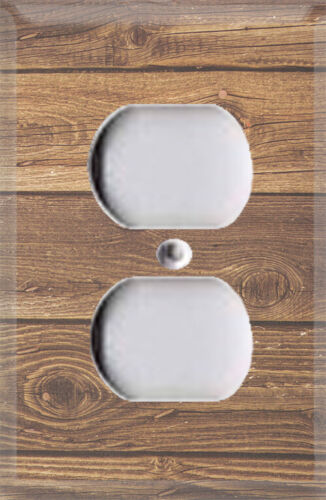 Country Rustic Wood Panel Themed Light Switch Cover Choose Your Cover Room Decor