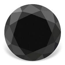 Echter Schwarzer Diamant mit Brilliantschliff 0.43ct 4.8mm