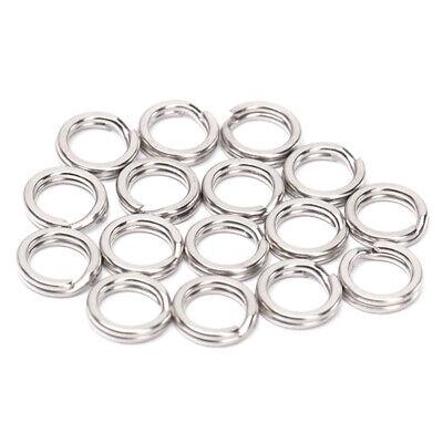 50Pcs Angeln Double Edelstahl Split Ring Oval Loop-Anschluss 8//15 19mm
