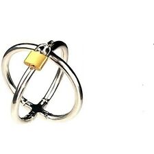 Steel Small/Female Crossover Wrist Cuffs - bondage fetish shackles gimp slave