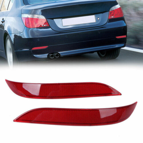 2Pcs Bumper Reflector 63146915039 63146915040 For BMW 2003-2007 5-Series E60 E61