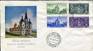 Topical Stamps Kind-Hearted Vatican 1957 Mariazell Shrine Austria 800th Ann/basilica/architecture/art Fdc Save 50-70% Stamps