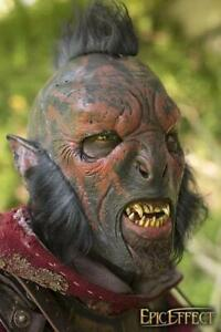 Details about Fantasy Red Carnal Orc Mask with Hair for Stage, Costume,  Re-enactment & LARP