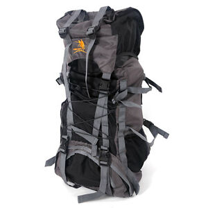 a1807abe7 Image is loading 60L-Camping-Travel-Rucksack-Backpack-Climbing-Hiking-Bag-