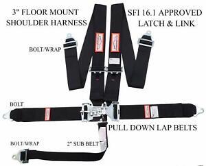 RACERDIRECT.NET 3 Harness Pads Racing Shoulder SEAT Belt Pads Orange