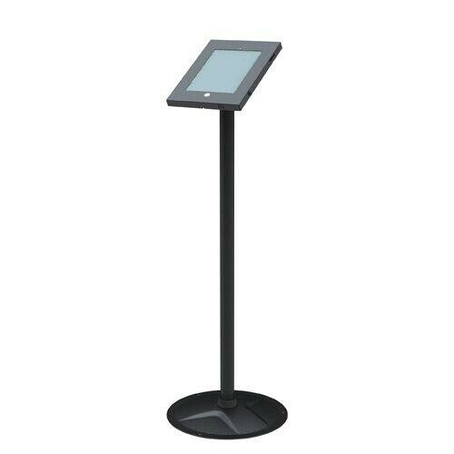 Brateck Anti-Theft Secure Enclosure Floor Stand for  iPad 2,3,4,Air 2 - Black