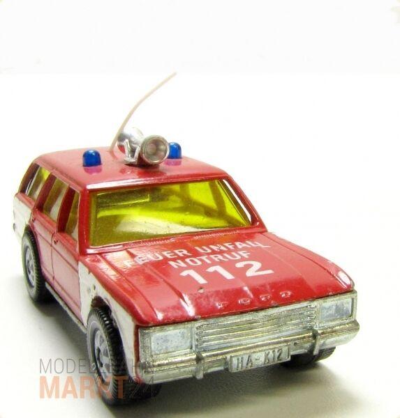 Siku Ford Granda-tournoi pompiers lumière bleue sirène antenne scale 1 55