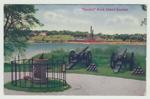 Details about Sundial, Rock Island Arsenal, Rock Island IL c  1910 Illinois