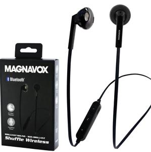 84d71637650 Image is loading Magnavox-Shuffle-Wireless-Stereo-Earphones-Bluetooth-Black