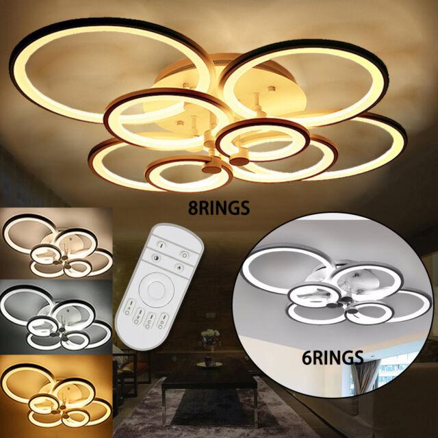 Acrylic Modern 2835 LED Ceiling Light Living Room Bedroom Chandelier Lamp UPS US