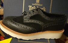 Tricker's Bowood UK7 mens black multitone  shoes NEW IN BOX trickers