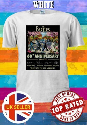 The Beatles 60th Years Anniversary S-5XL Funny Men Women Unisex T-shirt 3765