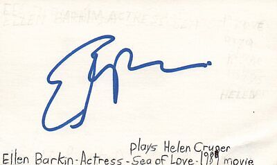 Autographs-original Cards & Papers Ellen Barkin Actress Helen In Sea Of Love Movie Autographed Signed Index Card